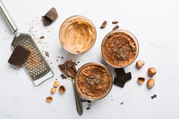 Mousse de chocolate Foto gratuita
