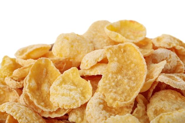 Muesli saboroso isolado em fundo branco Foto Premium