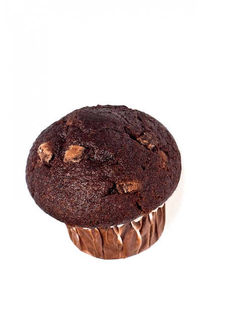 Muffin de chocolate cozido fresco Foto Premium