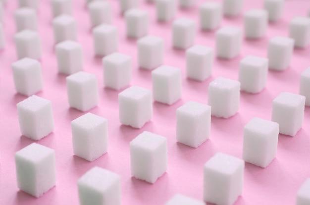 Muitos pequenos cubos de açúcar Foto Premium
