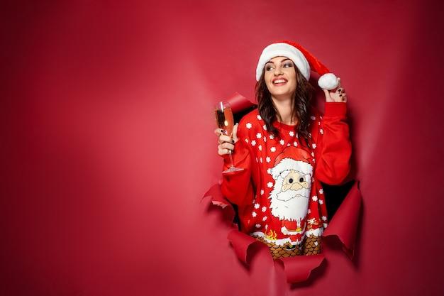 Mulher com champanhe Foto Premium