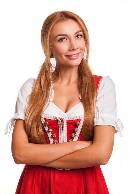 Mulher de cabelo vermelha