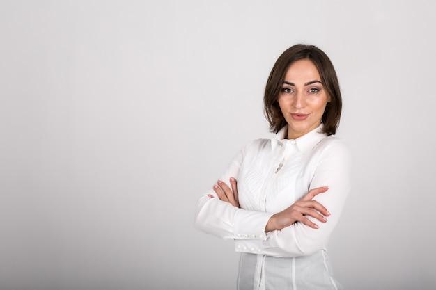 Mulher de negócios isolada Foto gratuita