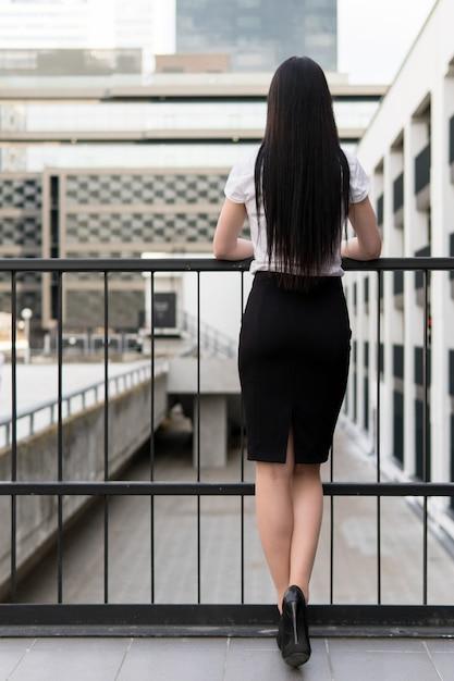 Mulher de negócios magro Foto Premium