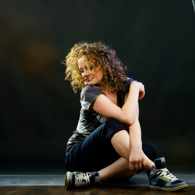 Mulher jovem, dançar Foto Premium