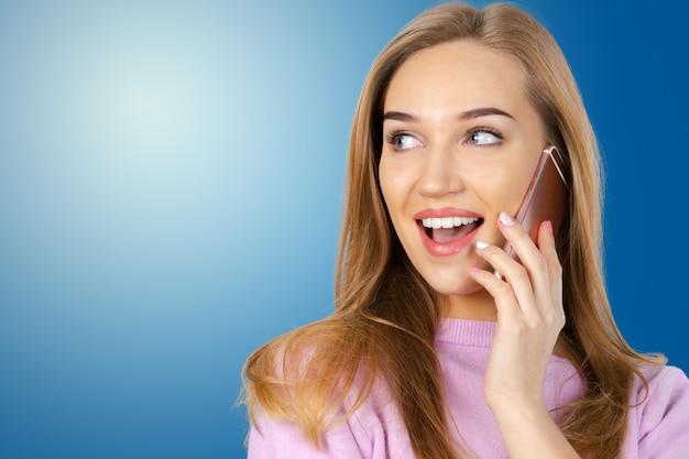 Mulher negócio, telefone Foto Premium