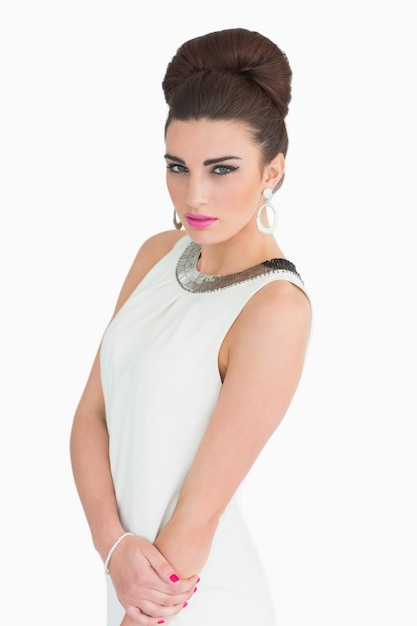 Mulher vestida com estilo mod Foto Premium