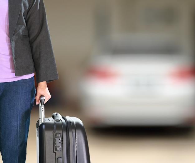 Mulher, vestindo, paleto, roupas Foto Premium