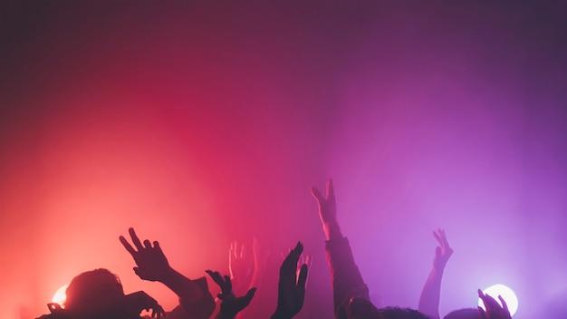 Multidão de disco Foto gratuita