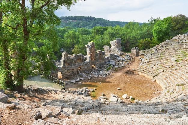 Muralhas da cidade nas ruínas de tróia, turquia. Foto gratuita