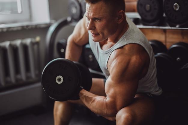 Músculo, mão, macho, saudável, braço Foto gratuita