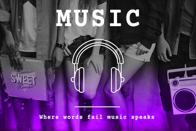 Música melodia ritmo som música áudio listening Foto gratuita