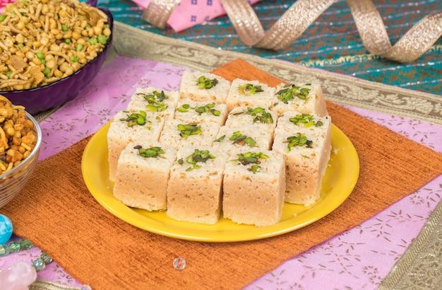 Mysoor pak sweet food Foto Premium