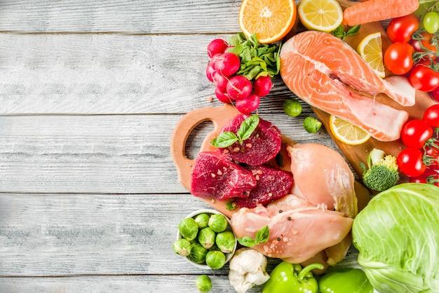 Na moda pegan dieta ingredientes alimentares Foto Premium