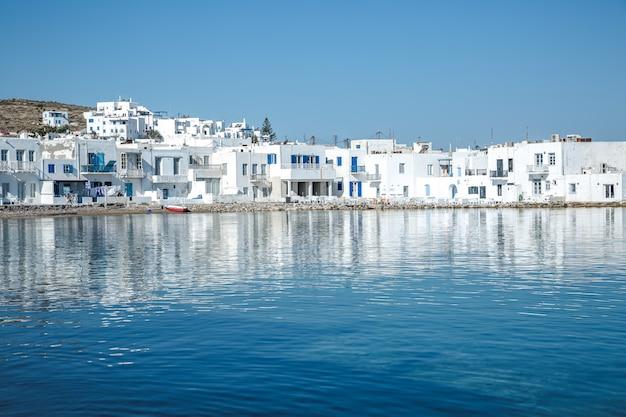 Naoussa aldeia, paros, grécia Foto Premium