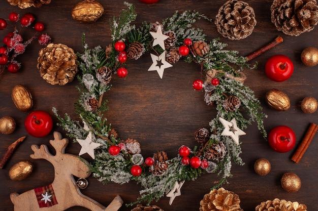 Natal vintage decoração Foto Premium