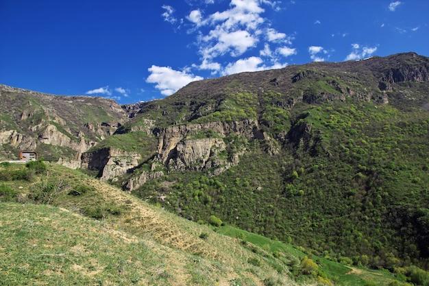 Natureza das montanhas do cáucaso na armênia Foto Premium