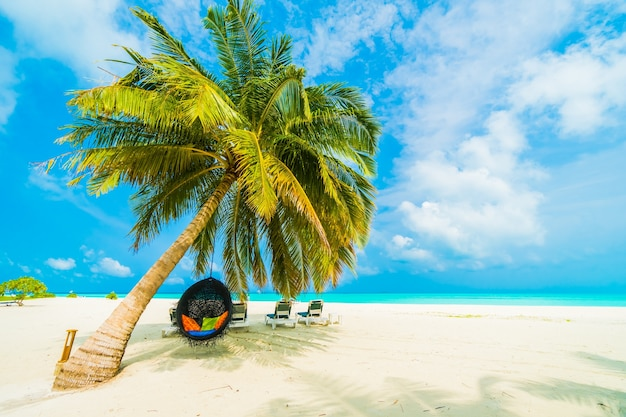 Natureza paradisíaca paisagem maldives caribe Foto gratuita