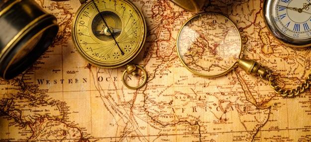 Navegação geográfica de viagens Foto Premium