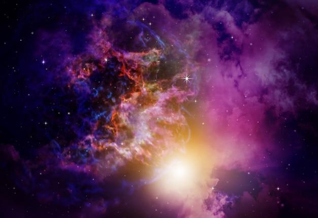 Nebulosa do espaço profundo com fundo de estrelas Foto Premium