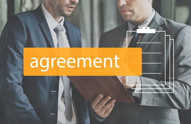 Negócio de negociação de compromisso de acordo de negócio Foto gratuita