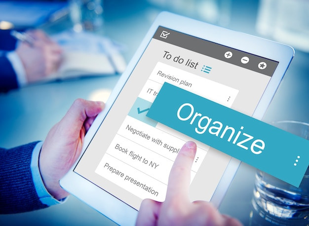 Negócio digital para fazer interface de aplicativo de lista Foto gratuita