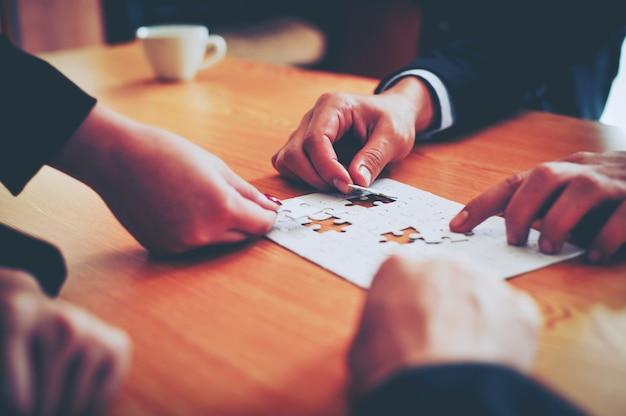 Negócios e reuniões e unidade de trabalho. Foto Premium