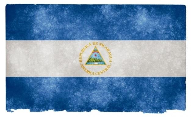 Nicarágua grunge bandeira Foto gratuita