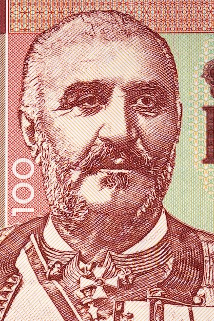 Nicolau i do montenegro em um projeto de lei Foto Premium