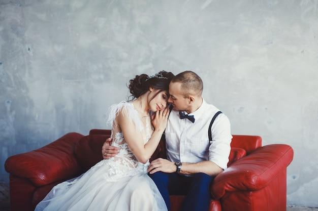 Noiva e noivo Foto Premium