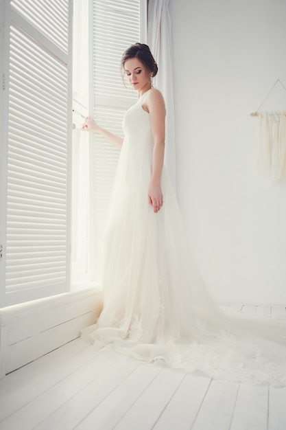 Noiva vestido de noiva Foto Premium