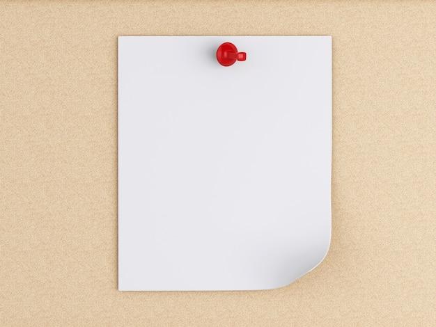Notas de post-it 3d sobre a placa da cortiça. Foto Premium
