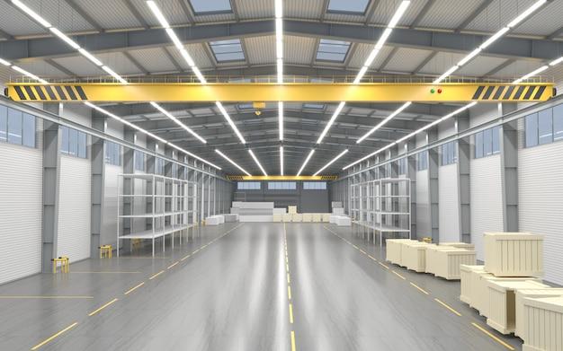 Novo armazém vazio ou fábrica Foto Premium