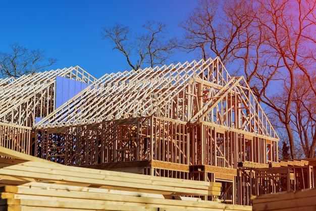 Novo enquadramento de construção residencial Foto Premium