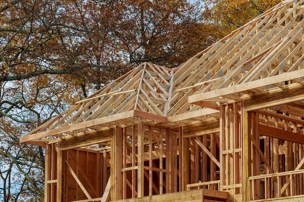Novo enquadramento residencial construção casa contra Foto Premium