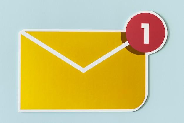 Novo ícone de email de mensagem recebida Foto gratuita