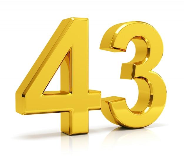 Número 43 Foto Premium