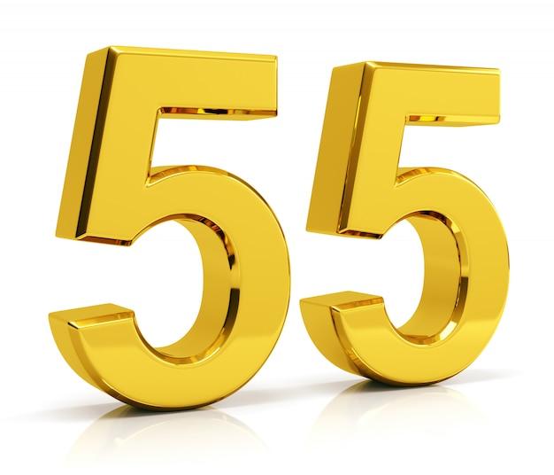 Número 55 Foto Premium