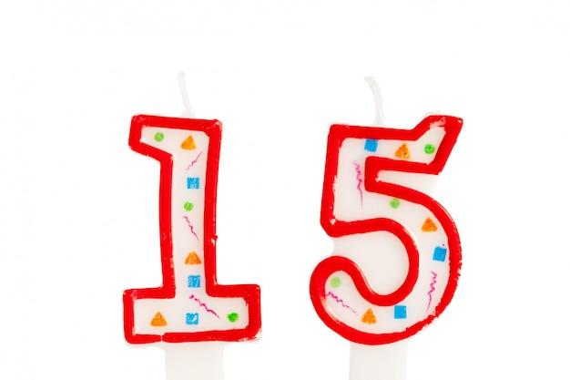 Número de velas de aniversário Foto Premium