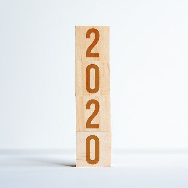 Números simbolizando o ano novo Foto Premium