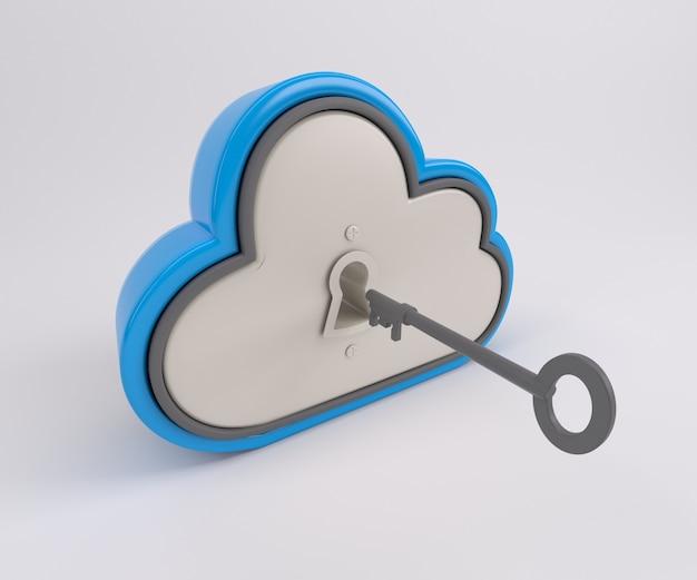 Nuvem bloqueado Foto gratuita