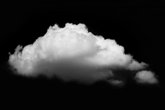 Nuvem branca em fundo preto Foto Premium