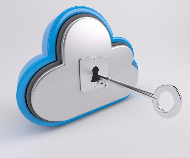 Nuvem com chave Foto gratuita