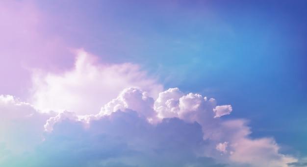 Nuvem com filtro pastel Foto Premium