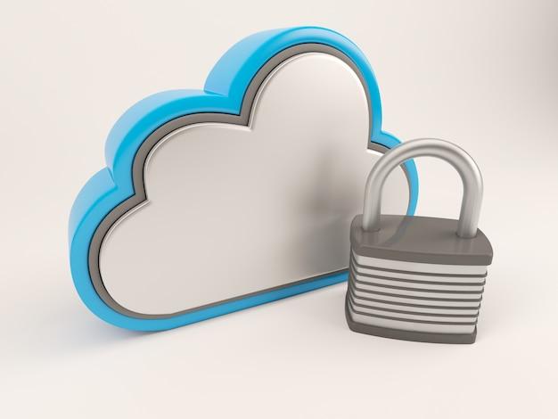 Nuvem com um bloqueio Foto gratuita