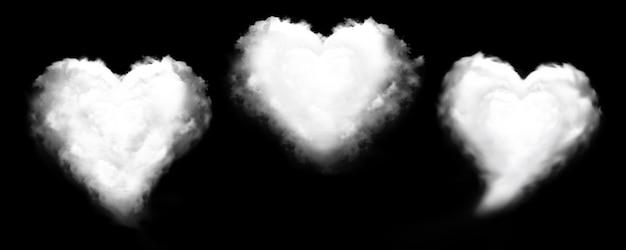 Nuvem dada forma coração isolada. Foto Premium