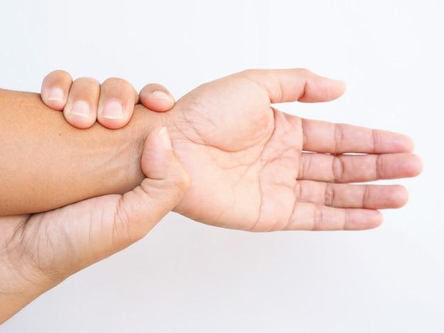 Punho e e no dor braço mão
