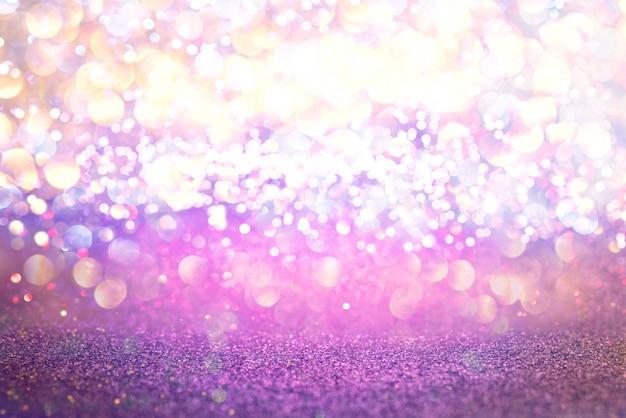 O brilho roxo ilumina o fundo do sumário do bokeh da textura. desfocado Foto Premium