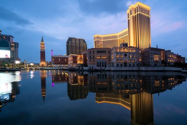 O casino e hotel venetian macau em macau (macau), china Foto Premium