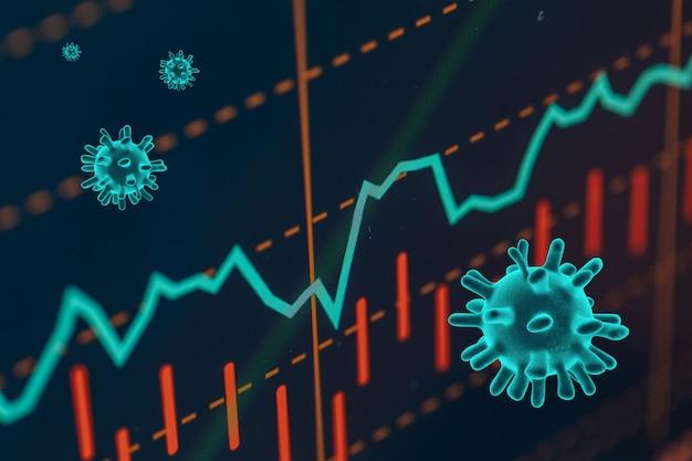 O coronavírus afunda nas bolsas de valores globais Foto Premium